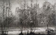 Norman Ackroyd: January Sunrise, Ludlow, Dinham Weir