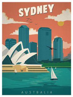 Vintage sydney poster