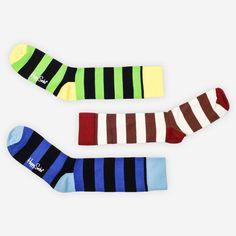 Fab.com   Socks Multi Stripe 3 Pack IV  Happy Socks