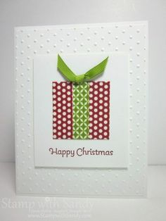 Fun with Washi Tape - Washi Christmas Card by stampwithsandy - Cards and Paper Crafts at Splitcoaststampers