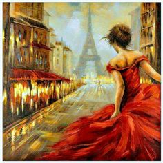 Get whisked away in the city of lights and love with our Pursuit of Romance Canvas Art! Featuring dramatic pops of red, this bold painting captures all the pas… Paris Painting, Oil Painting On Canvas, Canvas Art Prints, Painting & Drawing, Street Painting, Acrylic Canvas, Paris Canvas, Paris Wall Art, Paris Art