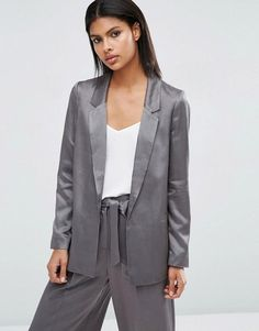 3a0a17e306b10 Buy Gray Asos Blazer for woman at best price. Compare Jackets prices from  online stores like Asos - Wossel United States