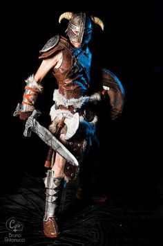Dovahkiin (Skyrim) #cosplay - Game Stage 2014 Skyrim Cosplay, Amazing Cosplay, Action Poses, Gaming Memes, Elder Scrolls, Dragon Age, Pretty Cool, Werewolf, Burlesque
