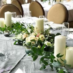 Top table decor at @