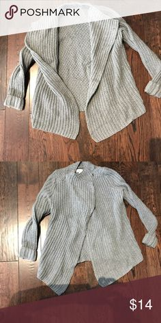 Lou & Grey Wool Moto Sweater Gray wool moto sweater. High neck with double snap closure. Lou & Grey Sweaters