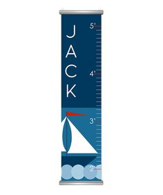 Take a look at this Marine Sail Personalized Growth Chart on zulily today!