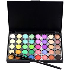 BESSKY Cosmetic Matte Eyeshadow Cream Makeup Palette Shimmer Set 40 Color Brush Set 2 *** Learn more by visiting the image link.