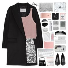 """""""bibliophile"""" by randomn3ss ❤ liked on Polyvore featuring MaxMara, Balenciaga, Privileged, Herbivore, Alexander McQueen, Warehouse, Christy, Korres, CB2 and Chanel"""