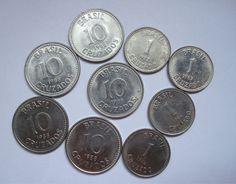moedas antigas -  Brasil