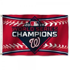 Fan Team Banners Sewn 3x5 Foot World Series Champions Outdoor Banner Championship Flag
