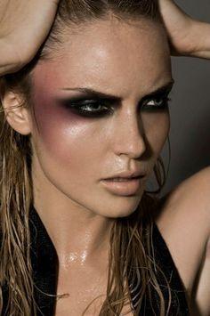 High Fashion Makeup Look, Fierce and Intense
