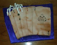 Dead man's hand card cake