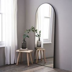 Chiltern FullLength Arch Mirror Mirrors The White Company UK Hallway Mirror, Arch Mirror, Metal Mirror, Wall Mirror Ideas, Metal Arch, Hallway Ideas, Diy Mirror, Long Mirror, Full Body Mirror