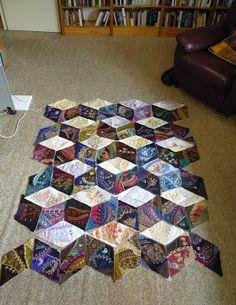 Work in Progress Wednesday Assembling a crazy quilt part 1 - Pintangle