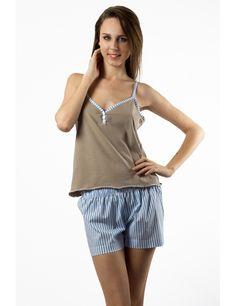 Zega Store - Pijamale Mushroom,culoarea bleu - Femei, Pijamale Tank Tops, Women, Fashion, Moda, Halter Tops, Fashion Styles, Fashion Illustrations