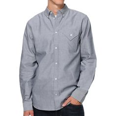 Dress up for that fancy dinner date or just look good to feel good in the Diamond Supply black long sleeve woven button up shirt. This standard fit guys Zumiez exclusive long sleeve woven button up shirt features a diamond shaped chest pocket at the left chest, traditional button up collar, full button up front placket, rounded bottom hem, straight yoke at the back for a better fit, box pleat at the back, button up sleeve cuffs, Diamond Supply logo tag at the left side, and custom Diamond…