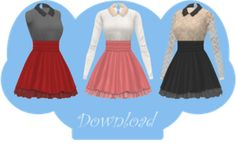 [MMD] COLLARED DRESS [+DL] by Sims3Ripper on @DeviantArt