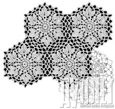 View album on Yandex. Crochet Square Patterns, Crochet Motifs, Lace Patterns, Crochet Shawl, Crochet Lace, Flower Patterns, Crochet Stitches, Russian Crochet, Fillet Crochet