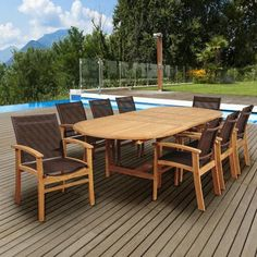 International Home Miami Amazonia Isabella 9 Piece Dining Set