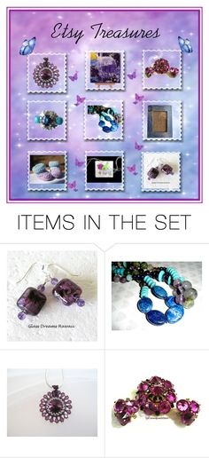 """""""Etsy Treasures"""" by glassdreamshawaii ❤ liked on Polyvore featuring art"""