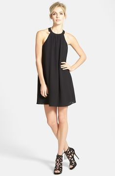Free shipping and returns on ASTR High Neck Trapeze Dress at Nordstrom.com. This boldly printed shift cut from light, flowing fabric showcases pretty shoulders with its elegant high-neck silhouette.