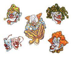 Bad Clown Tattoo Designs
