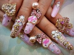 pink-diamond-nail-art1.jpg 500×375 ピクセル