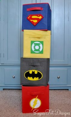 Love The Idea Of Creating A Super Hero Inspired Room. Hereu0027s A Tutorial And  Printables For Recreate These Super Hero Bins Via Sugar Tot Designs ...