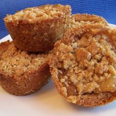 Apple Crisp Cups made in mini cupcake tin