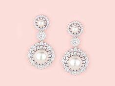 Rochelle Earrings - Kate Ketzal - Bridal Jewellery, Wedding Jewellery and Wedding Accessories