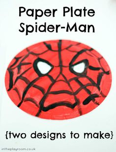 Paper plate spiderman. Easy and fun spiderman craft for kids who love super heroes
