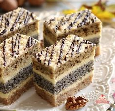 Cookie Recipes, Dessert Recipes, Hungarian Recipes, Food Cakes, Sweet Cakes, Homemade Cakes, Good Food, Food And Drink, Favorite Recipes