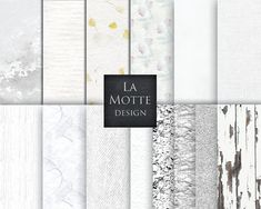 digital white paper textures digital white rustic by Lamottedesign