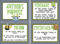 author's purpose cards