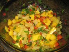 pineapple mango salsa recipe | Pineapple-Mango Salsa