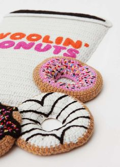 Kate Jenkins Knits Colorfully Soft Meals from Yarn #Doughnuts #Donuts