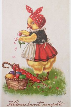 Weird Vintage, Easter Greeting Cards, Easter Parade, Easter Traditions, Easter Art, Easter Chickens, Vintage Holiday, Vintage Cards, Vintage Postcards