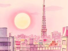 """The scenery in Sailor Moon is so simple and yet so satisfying"" Sailor Moon Aesthetic, Pink Aesthetic, Aesthetic Anime, Sailor Moon Background, Sailor Moon Wallpaper, Art Background, Wallpaper Pc, Laptop Wallpaper, Vaporwave Art"