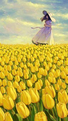 Champ de fleurs manga
