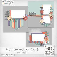 Memory Makers Vol 15 Template Pack: CU okay