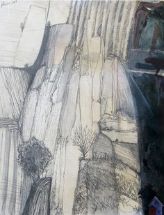 Paul Peterson: A New Theology Of The Land - mixed media on paper