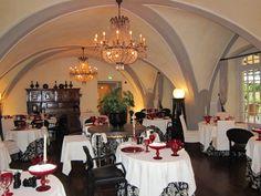 Restaurant at Chateau de Germigney, Port-Lesney, France