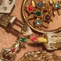 Vintage Christmas brooches currently available in our shop!