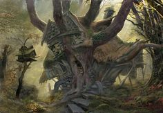 radagast house | ... Lee and John Howe - voiceofnature: Radagast's House by John Howe