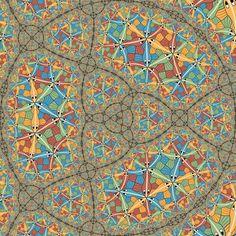Circle Limit III in self similar fractal by Vladimir-Bulatov on DeviantArt