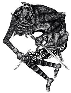 #art #ink #illustration #cat #fight #artwork #drawing #blackandwhite #animals