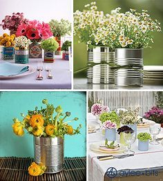 using cans on table setting - Google Search