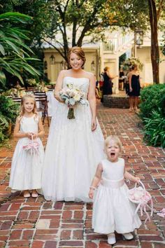 Matching Bride And Flower Girl Dresses 1