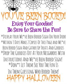 Free You've Been Booed Printable #TrickOrSweet  #AD