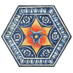 "EliteTile Hexitile 8 x 7""; Porcelain Glazed Tile in Pepe $9.95"